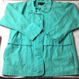 EDDIE BAUER Denim Jean Jacket Coat Mint Green Med